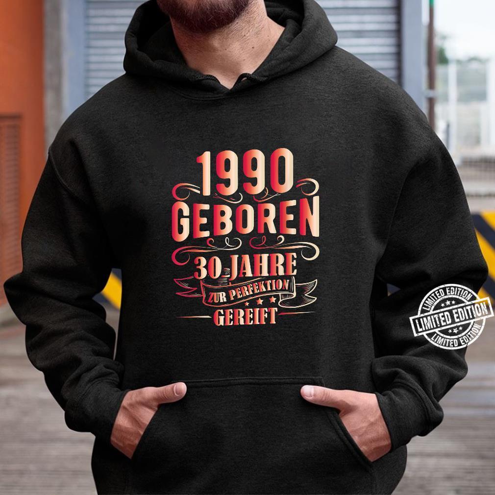 30 Mann Zur Perfektion Gereift Juni 1990 30. Geburtstag Shirt hoodie