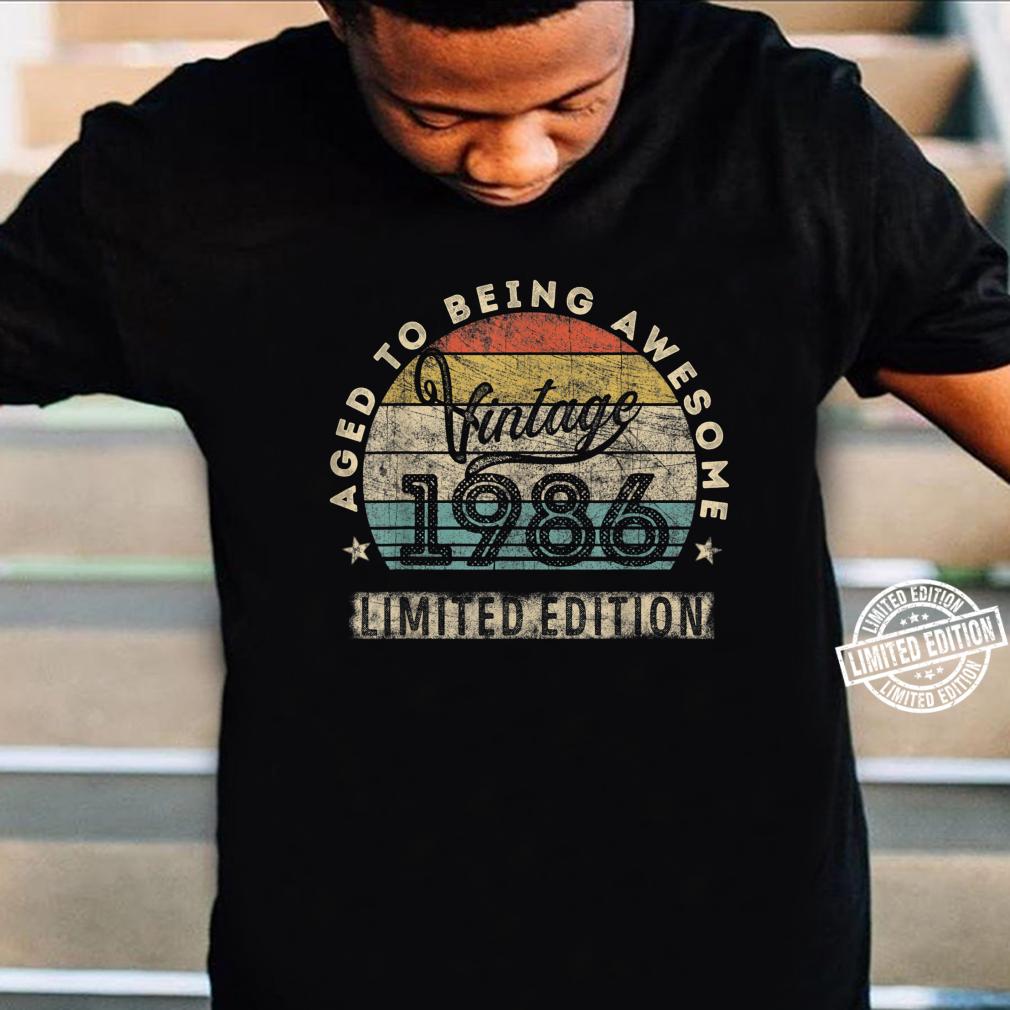 34. Geburtstag Mann Frau Jahrgang 1986 34 Jahre alt Geschenk Shirt