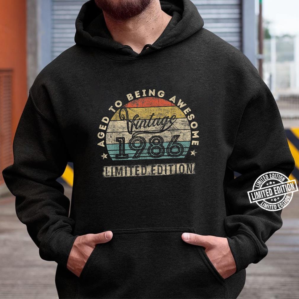 34. Geburtstag Mann Frau Jahrgang 1986 34 Jahre alt Geschenk Shirt hoodie