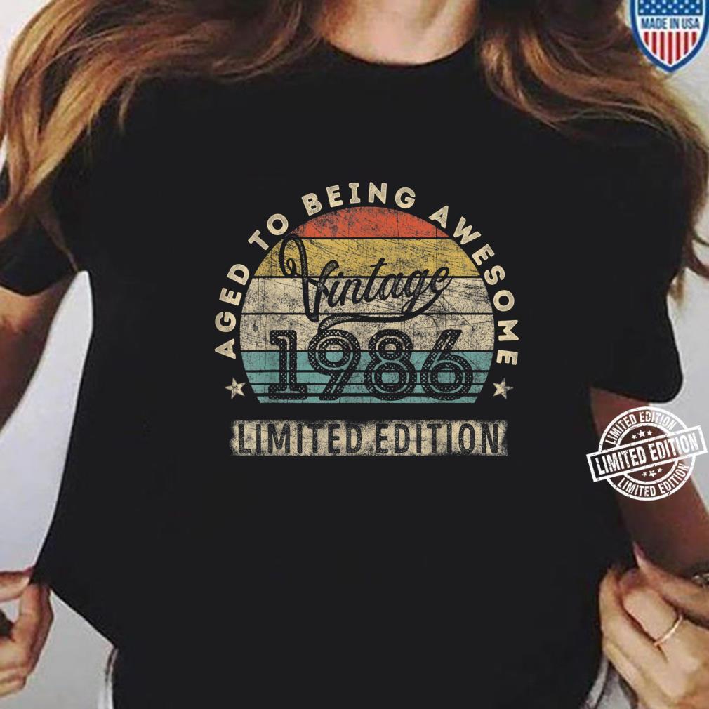 34. Geburtstag Mann Frau Jahrgang 1986 34 Jahre alt Geschenk Shirt ladies tee