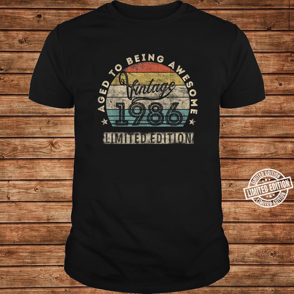 34. Geburtstag Mann Frau Jahrgang 1986 34 Jahre alt Geschenk Shirt long sleeved