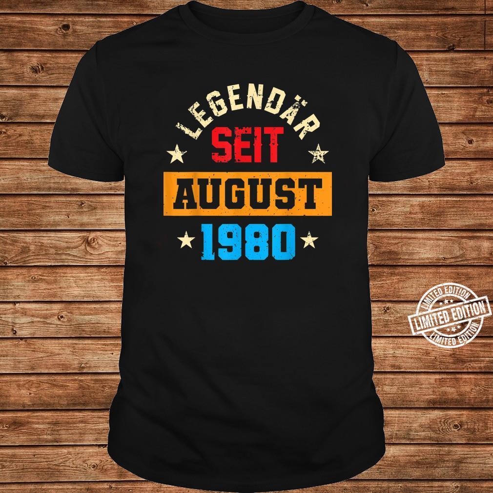 40 Legendär Seit August 1980 40Ter 40. Geburtstag Frau Shirt long sleeved