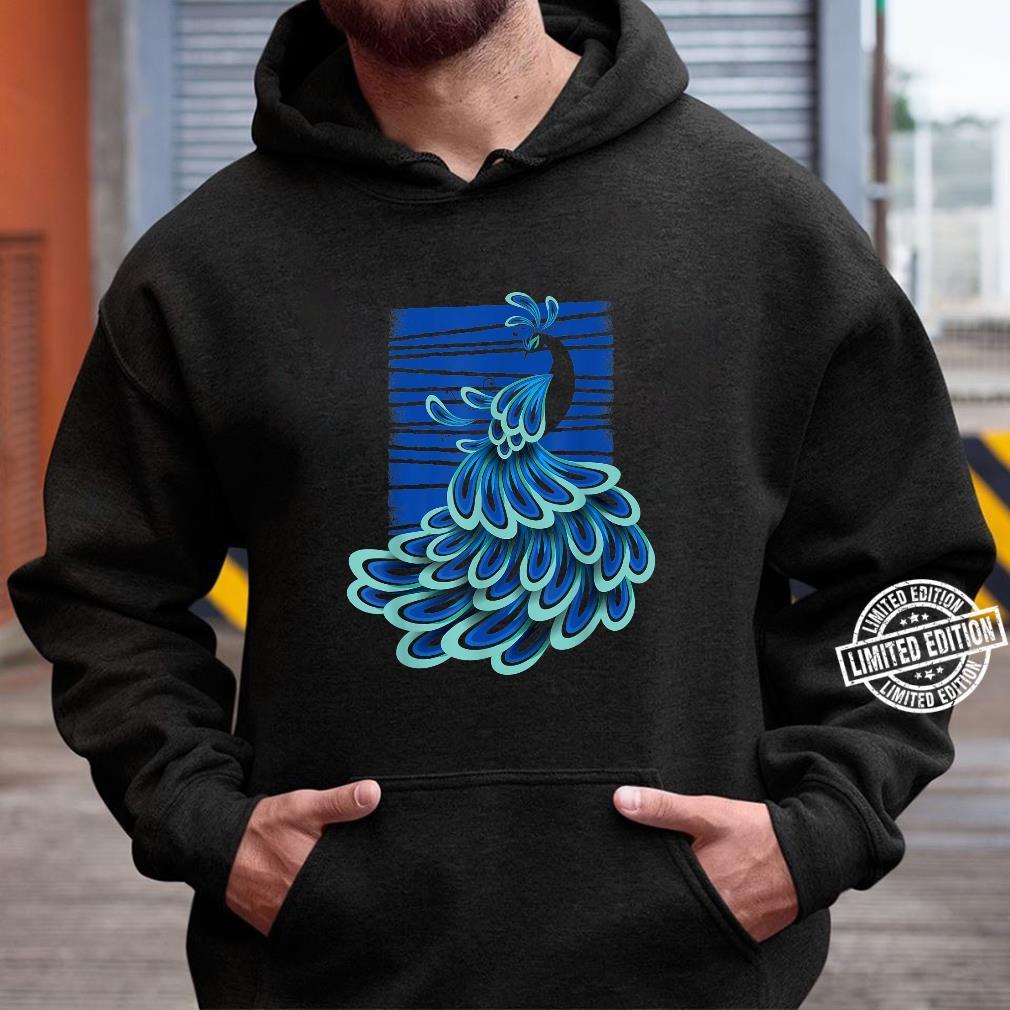 Blue Peacock Shirt hoodie