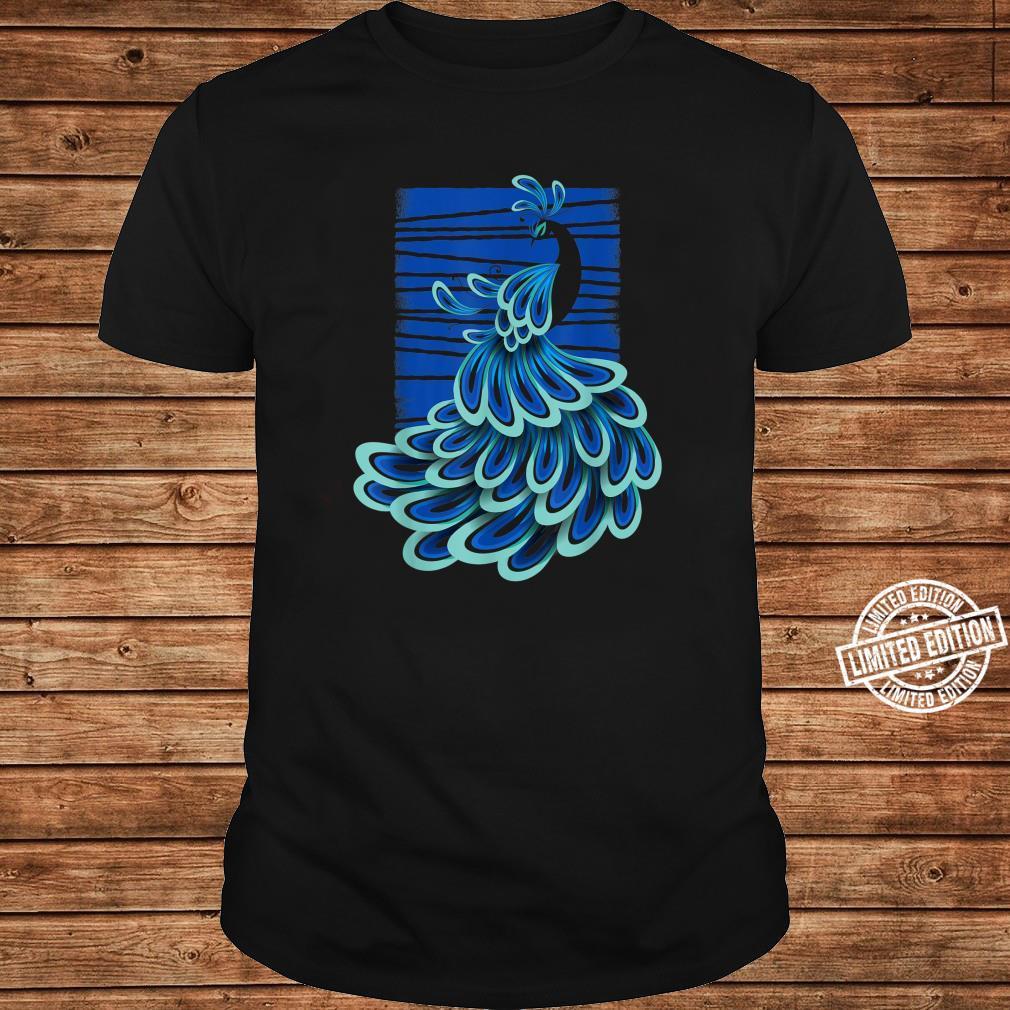 Blue Peacock Shirt long sleeved