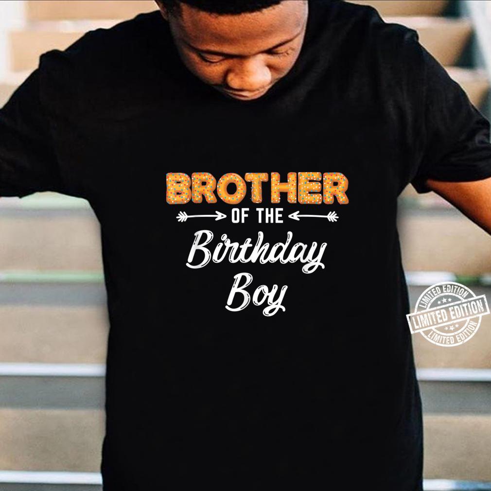 Bruder des Geburtstagsjungen Donut Familiengeburtstag Shirt