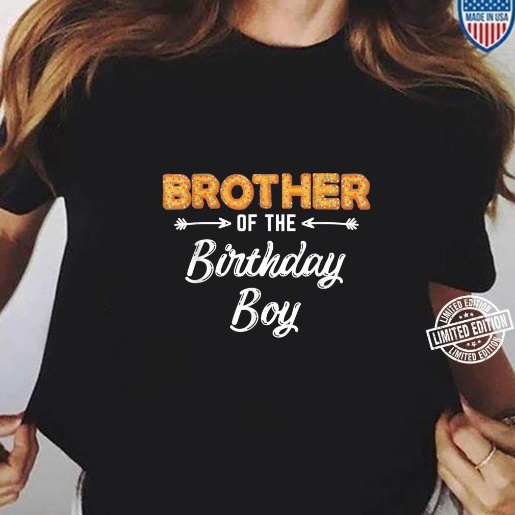 Bruder des Geburtstagsjungen Donut Familiengeburtstag Shirt ladies tee