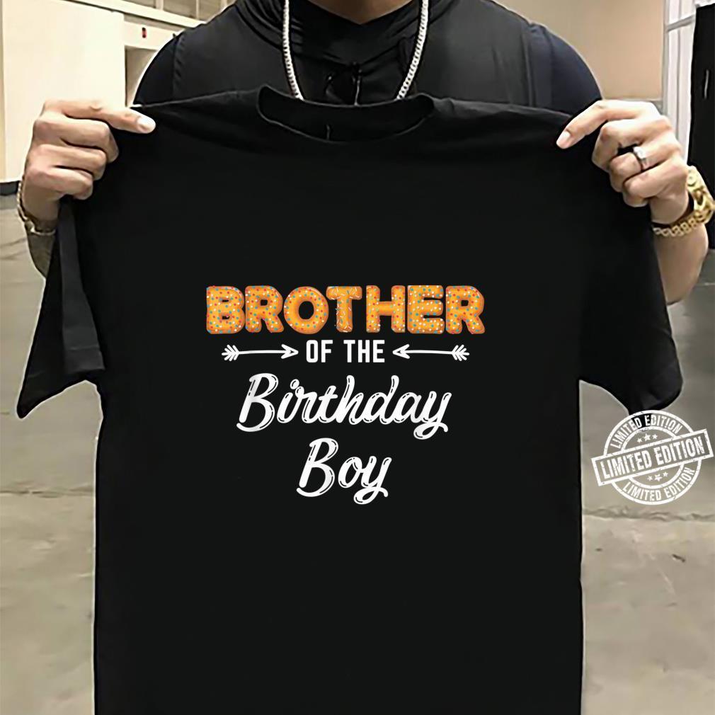 Bruder des Geburtstagsjungen Donut Familiengeburtstag Shirt sweater