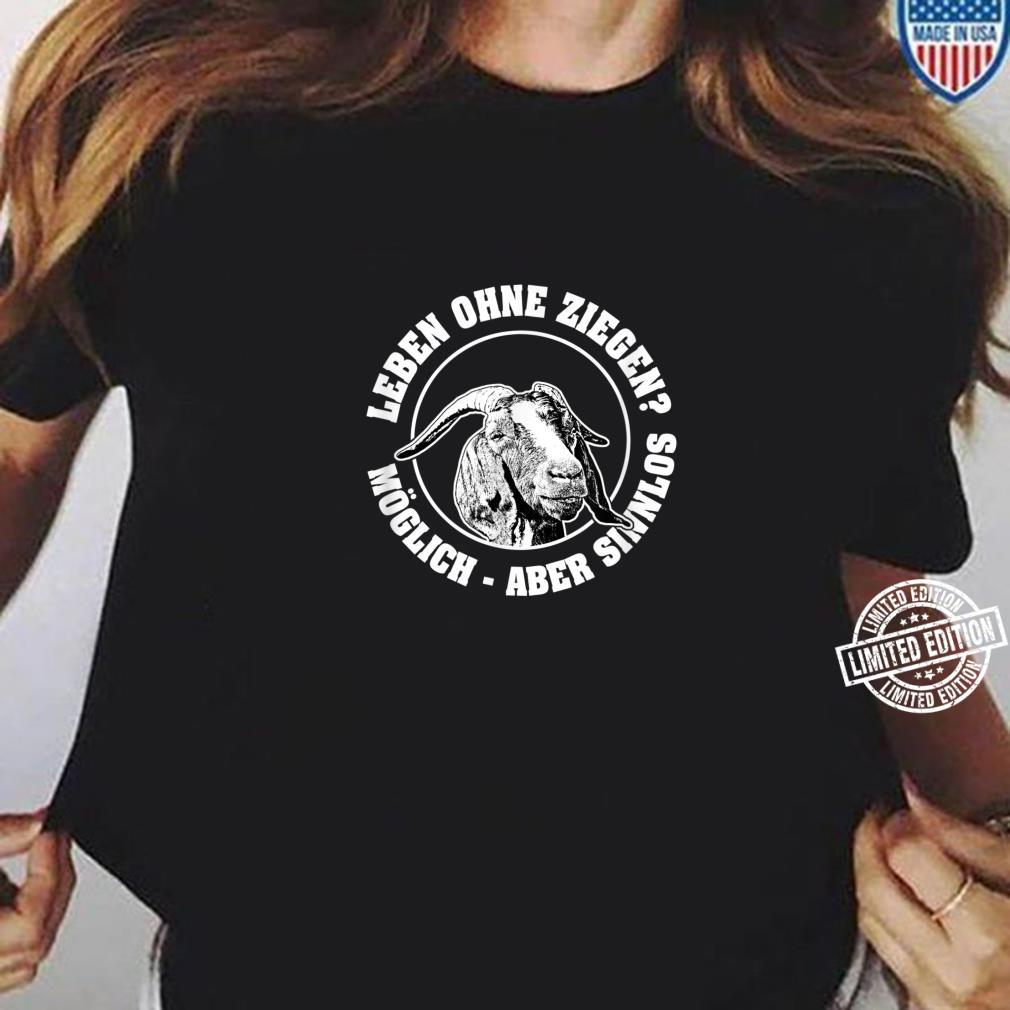 Burenziegen, Ziegenzucht, ökologische Nutztierhaltung Shirt ladies tee
