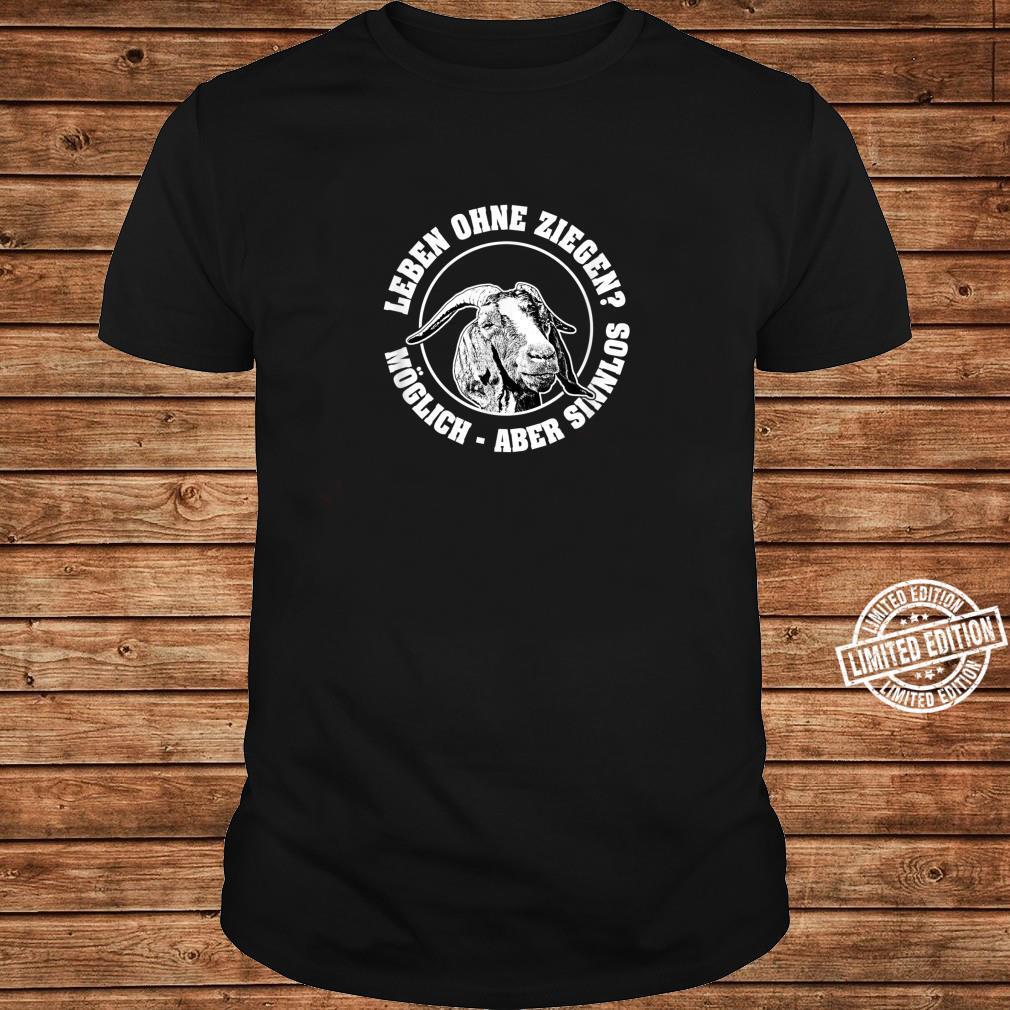 Burenziegen, Ziegenzucht, ökologische Nutztierhaltung Shirt long sleeved