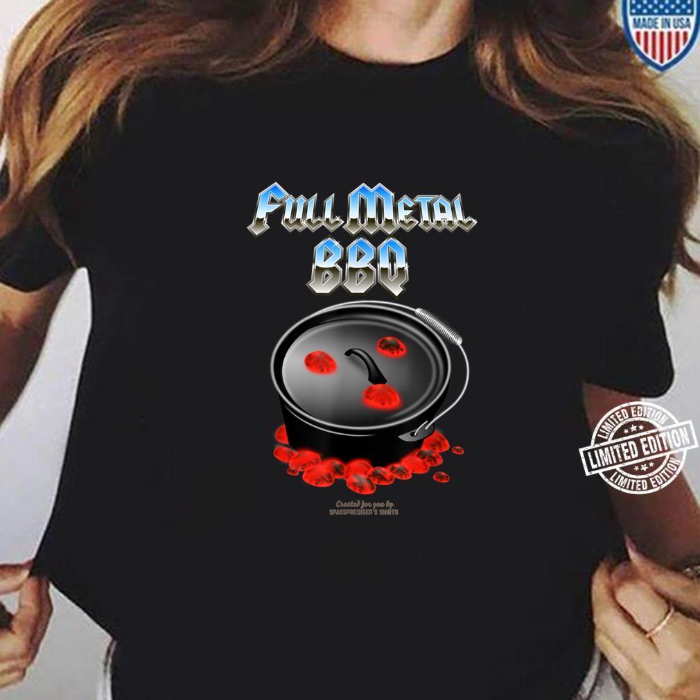 Dutch Oven Full Metal BBQ Shirt ladies tee