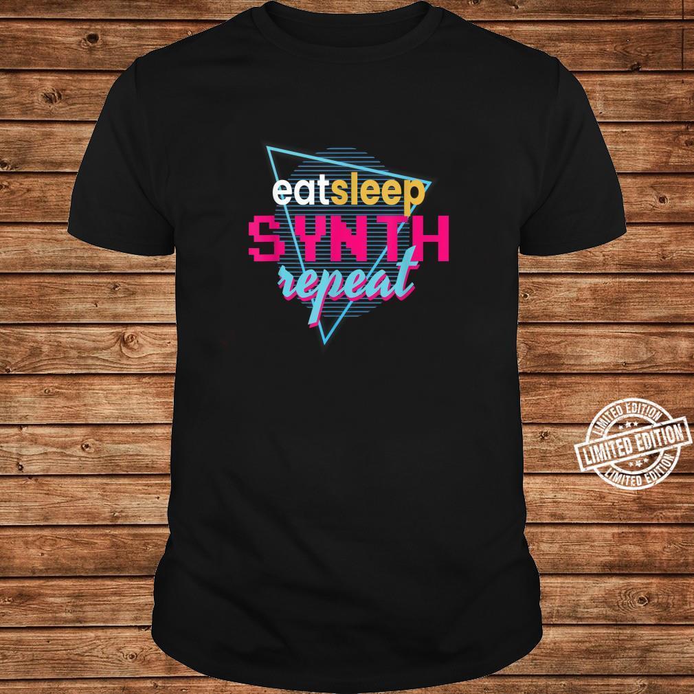 Eat Sleep Synth Repeat I Synth Synthesizer DJ Festival Retro Shirt long sleeved
