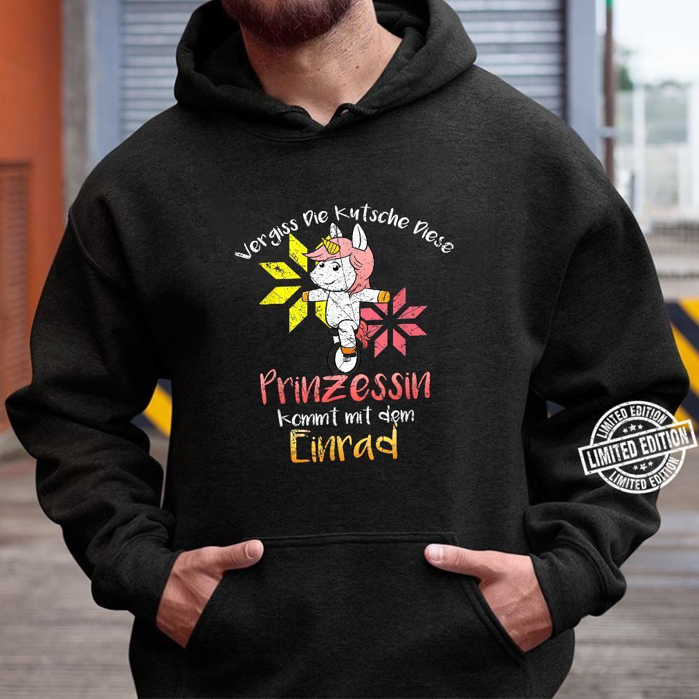 Einrad Fahren Einhorn Unicycle Shirt hoodie