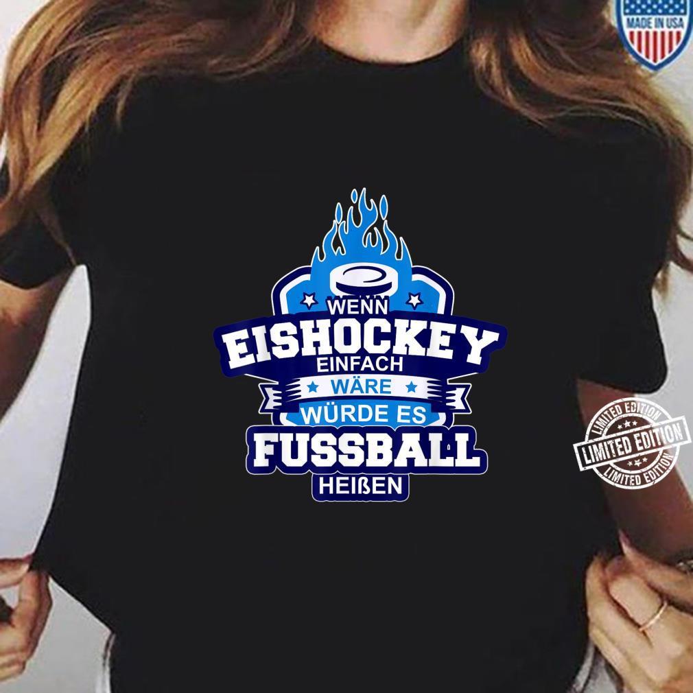 Eishockey Ice Hockey Sport auf Eis Schlitschuh Puk Shirt ladies tee