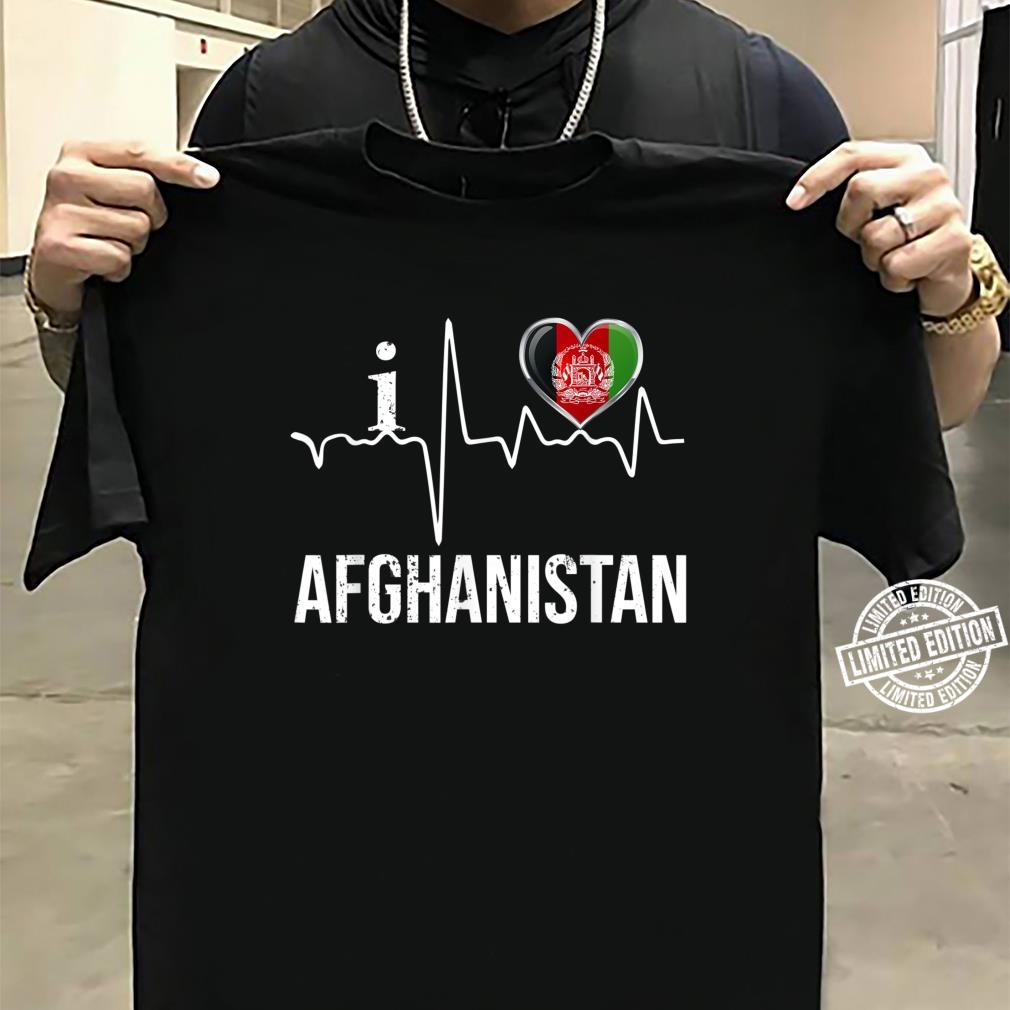 WM Trikot Liebe Herz Heart FanShirts4u Damen T-Shirt I Love Afghanistan