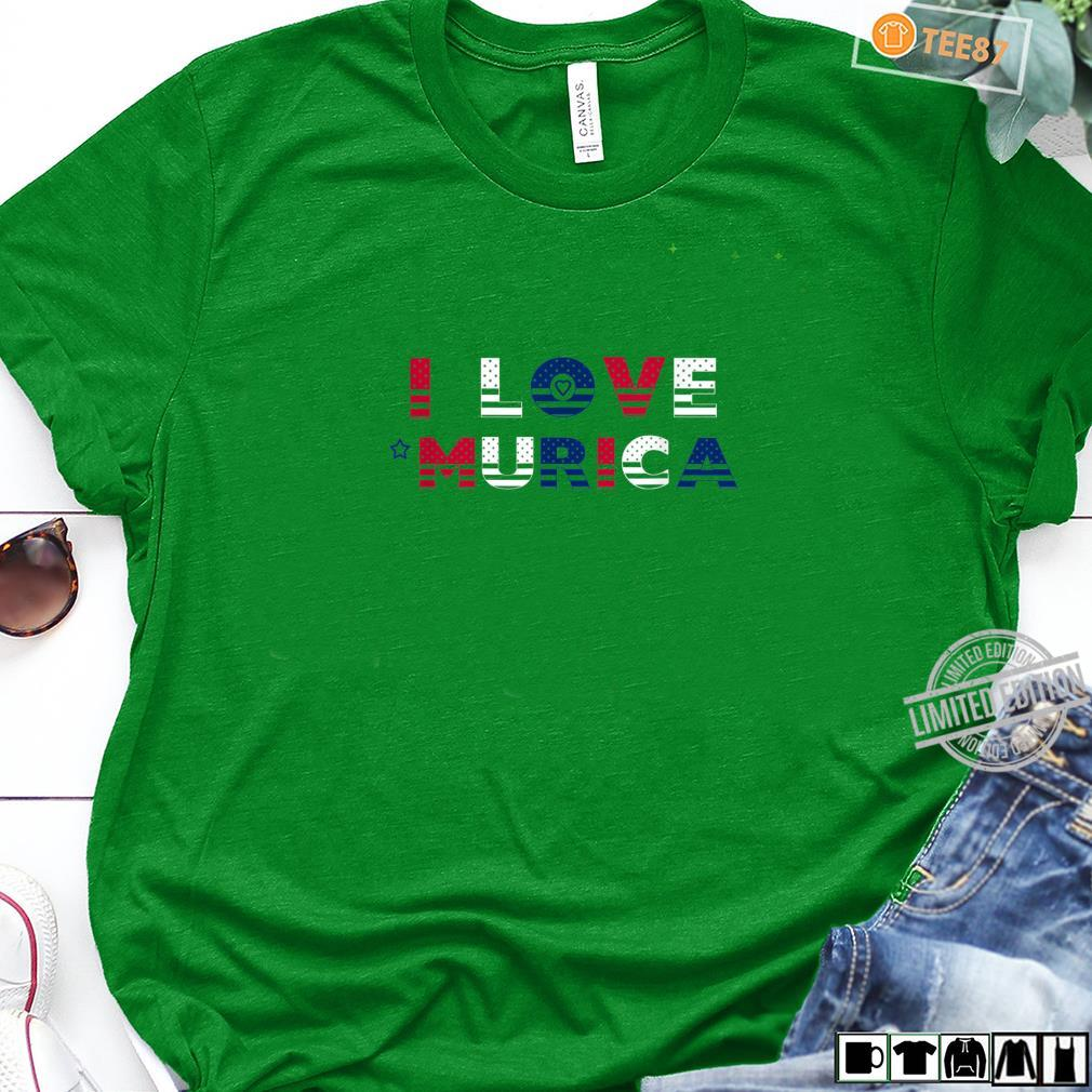 I Love 'Murica Patriotic July 4th Red White Blue Shirt long sleeved