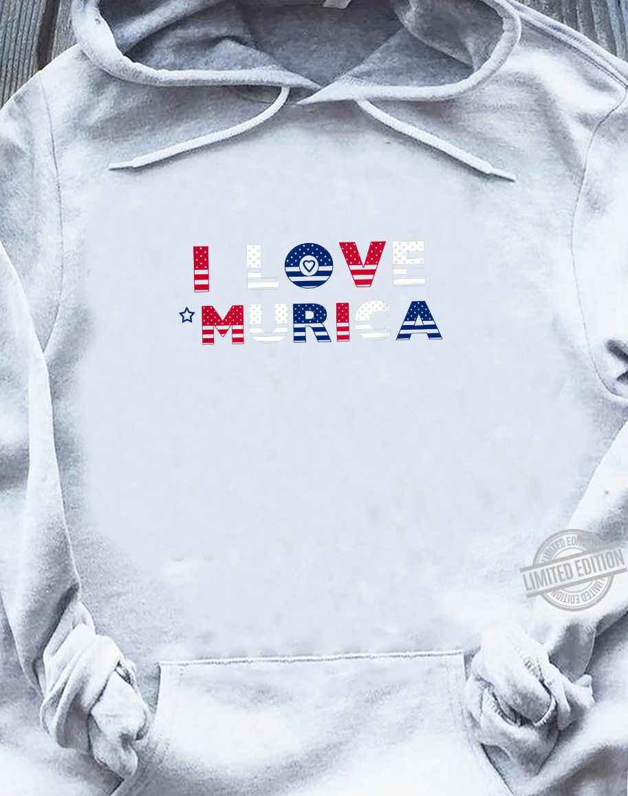 I Love 'Murica Patriotic July 4th Red White Blue Shirt sweater