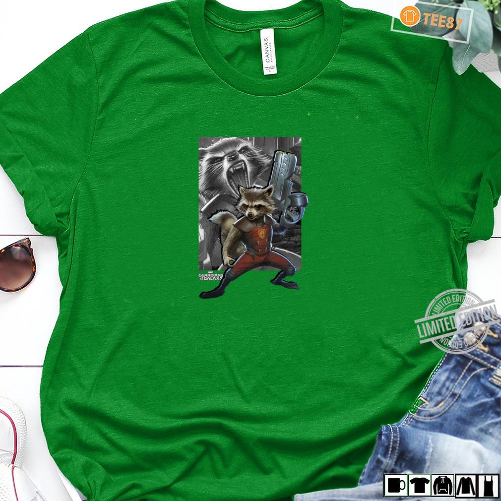 Marvel Guardians Of The Galaxy Rocket Bold Double Shirt long sleeved
